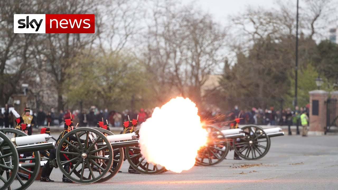 Prince Philip: Gun salutes held across the UK