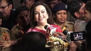 Mumbai Indians की Trophy लेकर Siddivinayakपहुंची Nita Ambani| IPL 2019