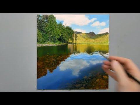 #123 How To Paint Shallow Lakes | Michael James Smith
