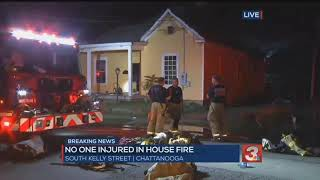 No injuries in house fire on S. Kelly Street