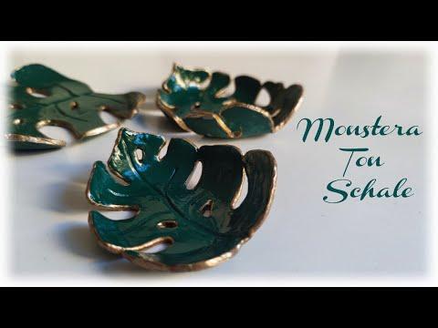 Monstera Ton Schalen * DIY * Clay Dishes