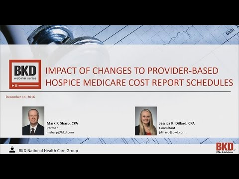 Impact of the Changes to Provider-Based Hospice Medicare Cost Report Schedules