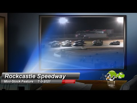 Rockcastle Speedway - Mini-Stock feature - 7/3/2021 - dirt track racing video image