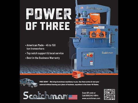 Scotchman 5014ET - New 50-ton Turret Punch Ironworker Metal Fabricating Machine - Made in USA