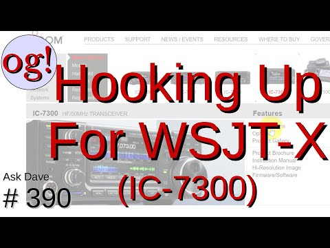 Hooking Your Radio (IC7300 as Example) to Computer for WSJT-X (#390)