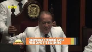 Juramentan a Reinaldo Pared Perez como Presidente del senado en Abriendo la Mañana