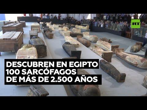 Descubren 100 sarcófagos de más de 2.500 años en Egipto