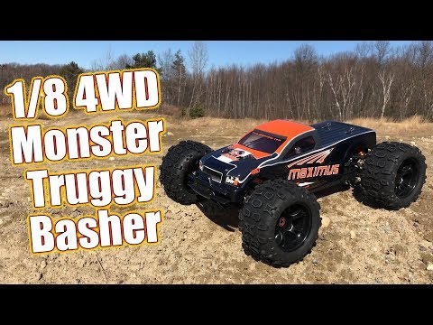 Burly Brushless Basher Beast - HRP / DHK Hobby Maximus ⅛ 4x4 Monster Truck Review | RC Driver