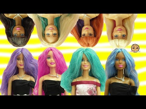 Barbie Dolls Head Twist Changing Hair Style + Color Change Hair - Toy Video - UCelMeixAOTs2OQAAi9wU8-g