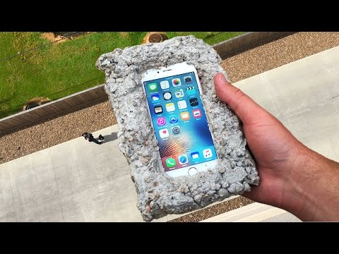 Can Concrete Protect iPhone 6s from 100 FT Drop Test? - GizmoSlip - default