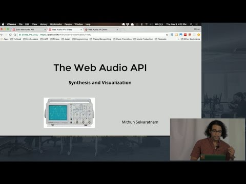 Web Audio API Tutorial - Build a Synthesizer and Frequency Analyser using Javascript's Web Audio API - UCjFO5t0MLyQaidKGpGoRewg