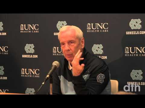 Men's basketball head coach Roy Williams addresses the press before UNC's Saturday game against NC State.