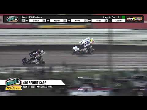 Knoxville Raceway 410 Highlights - July 18, 2021 - dirt track racing video image