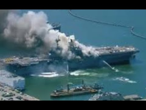Breaking Massive Explosion USS Bonhomme Richard 21 Hospitalized 18 Sailors