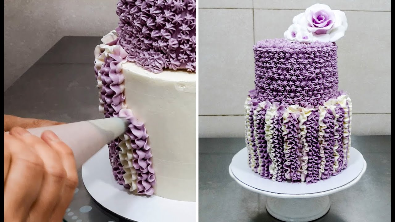 Buttercream Cake Decorating. Fast and Easy Technique by ...