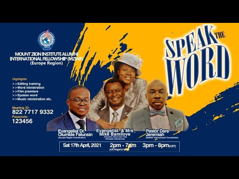 MZIAIF EU Region Conference - SPEAK THE WORD!