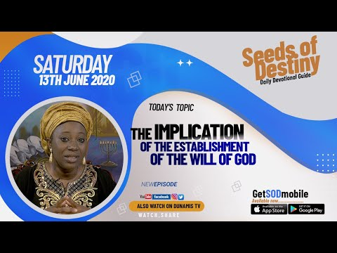 Dr Becky Paul-Enenche - SEEDS OF DESTINY  SATURDAY JUNE 13, 2020