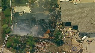 Gas explosion destroys house, kills utility worker