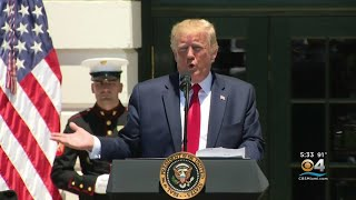 President Trump Defends Tweets Aimed At Democratic Congresswomen