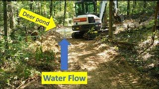 Bobcat Mini Excavator & Illinois Deer watering hole MISSION! Will I win??