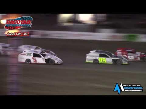 Dacotah Speedway IMCA Modified A-Main (8/13/21) - dirt track racing video image