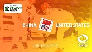 HIGHLIGHTS: China v United States - Pioneer Hi-Bred World Men's Curling Championship 2019