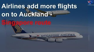 Airlines add more flights on to Auckland - Singapore route