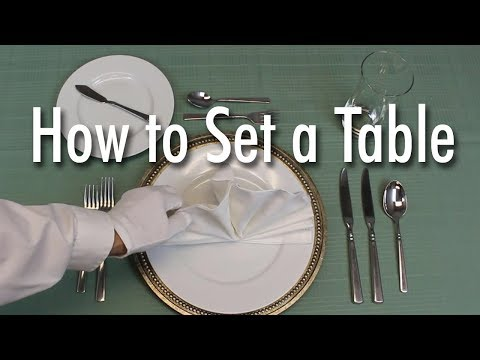 Learn How to Set a Formal Dinner Table - UCqK8piFABnmGOm9xtp116NA
