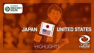 HIGHLIGHTS: Japan v United States - Pioneer Hi-Bred World Men's Curling Championship 2019