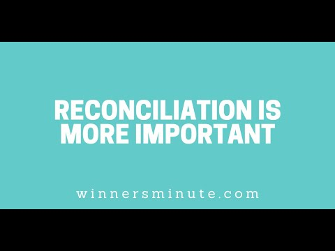 Reconciliation Is More Important // The Winner's Minute With Mac Hammond