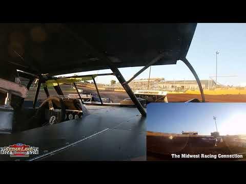 Nick Panitzke In Car Heat Race - Cedar Lake Speedway 08/21/2021 - dirt track racing video image
