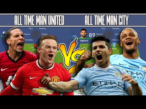 MAN UNITED ALL TIME XI VS MAN CITY ALL TIME XI - FIFA 19 EXPERIMENT