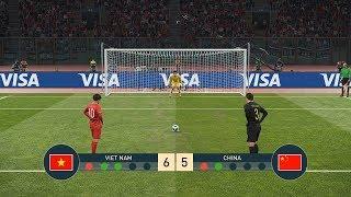 VIETNAM vs CHINA - PENALTY SHOOTOUT - PES19 - Highlight