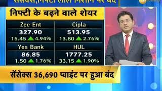 Sensex dips 286 pts, Nifty ends at 10,856