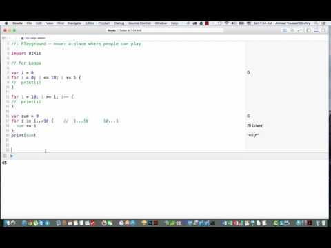 20- Loops in Swift 2 – for loop