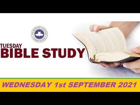 RCCG SEPTEMBER 1st 2021 BIBLE STUDY