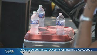Downtown businesses provide water to Austin homeless during record heat