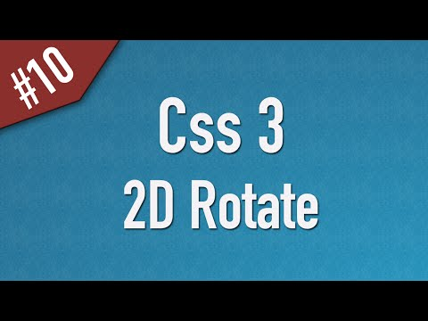 [ Css3 In Arabic ] #10 – 2D Transform – Rotate