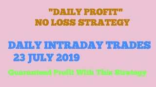 Intraday trading tips for 22 July 2019 | Intraday trading stocks for tuesday