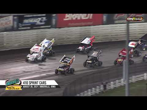Knoxville Raceway 410 Highlights - August 28, 2021 - dirt track racing video image