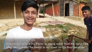 Rohingya youth shares his story on social media