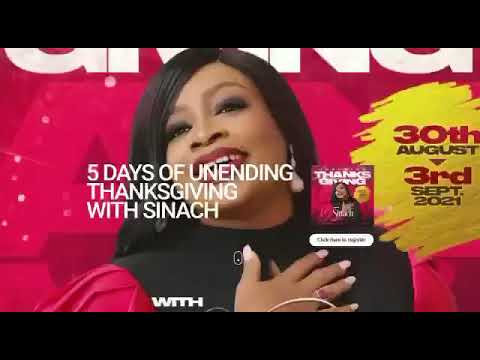 SPECIAL ANNOUNCEMENT: 5 Days of Unending Thanksgiving with Sinach and Friends!
