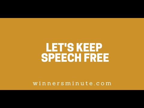 Lets Keep Speech Free // The Winner's Minute With Mac Hammond
