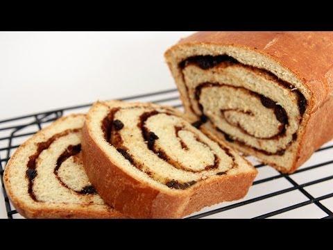 Homemade Cinnamon Raisin Bread Recipe - Laura Vitale - Laura in the Kitchen Episode 659 - UCNbngWUqL2eqRw12yAwcICg