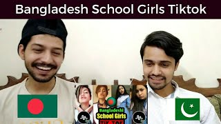 Pakistani Reaction | Bangladesh School Girls Tiktok | Tiktok Bangladesh