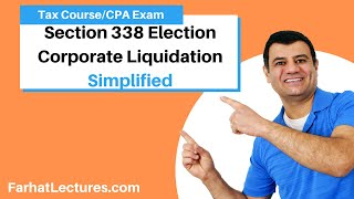 Section 338 Election Corporate Liquidation | Corporate Income Tax Course | CPA Exam REG