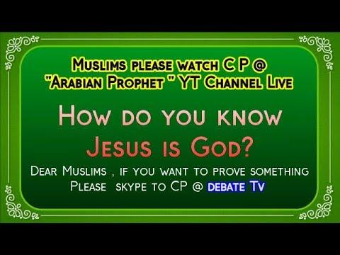 Prove me , Jesus is God : Muslim man Skype to Christian Prince