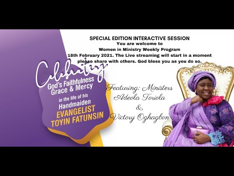 WOMEN IN MINISTRY WEEKLY PROGRAM-SPECIAL EDITION