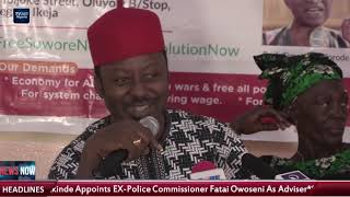 Falana, Soyinka addresses newsmen despite police sealing off venue