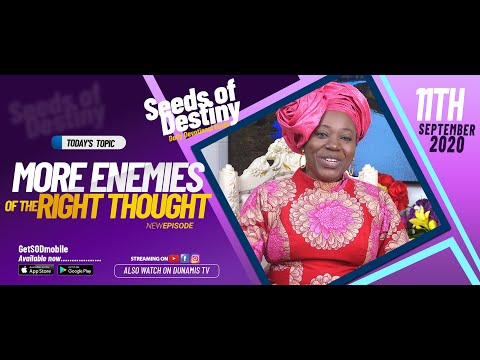 Dr Becky Paul-Enenche - SEEDS OF DESTINY - FRIDAY SEPTEMBER 11, 2020